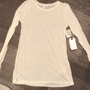 NWT LEITH long sleeve white shirt